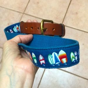 Sailing belt⛵️with leather band and brass buckle